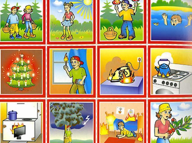 Картотека картинок по безопасности для детей